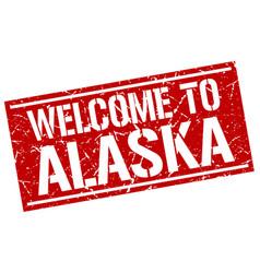 Welcome to alaska stamp vector