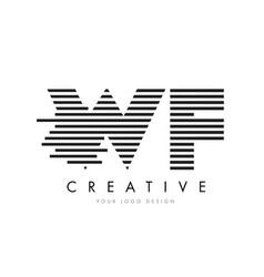 wf w f zebra letter logo design with black and vector image