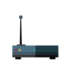 Wireless router digital broadband internet vector