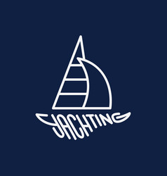yachting logo vector image