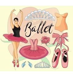 Ballet icon set vector