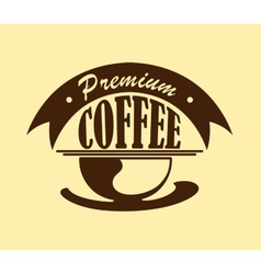 Coffee poster or icon vector image vector image