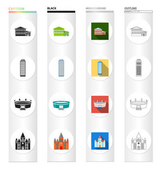 domes museum history and other web icon in vector image vector image