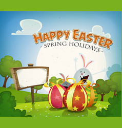 easter holidays background vector image