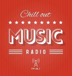 Music Radio VS vector image vector image