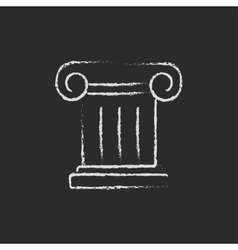 Ancient column icon drawn in chalk vector image vector image