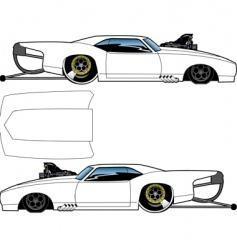 blown Camaro vector image vector image