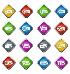 Car service icons set vector image vector image