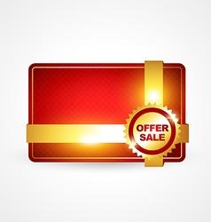 golden offer sale vector image vector image