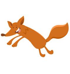 happy fox animal character vector image vector image