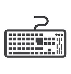 keyboard line icon button and device vector image vector image