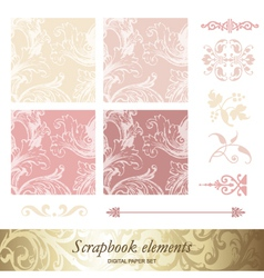 Set of victorian patterns vector image vector image