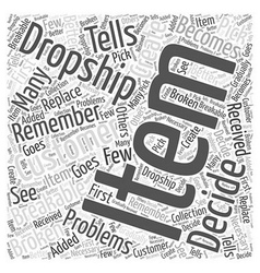 When you decide to dropship Word Cloud Concept vector image vector image