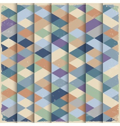 Geometric structure in grunge style vector