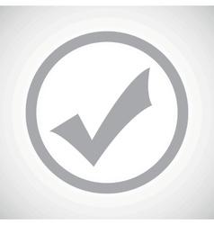 Grey tick mark sign icon vector image vector image