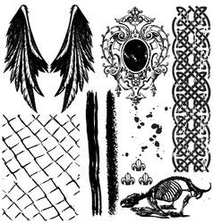 grunge elements4 vector image