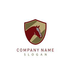 horse shield logo 2 vector image vector image