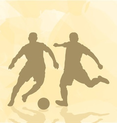 Two football players on an abstract background vector image