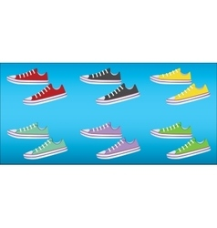 Banner with sneakers vector image vector image