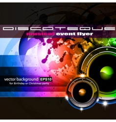 disco vector image vector image