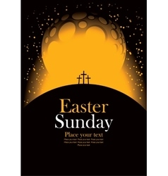 easter with Calvary and crosses vector image vector image