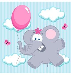 elephant on balloon vector image