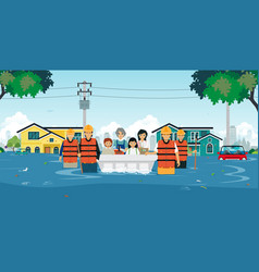 flood rescue vector image