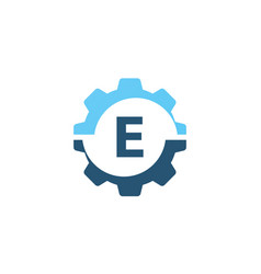 gear solution logo initial e vector image vector image