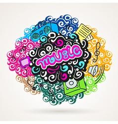 music graffiti modern ornament element vector image vector image