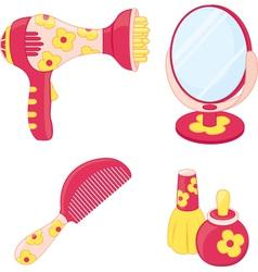 Toys set hairdresser vector image vector image
