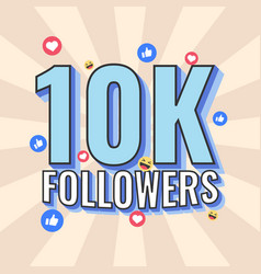 10k followers banner design vector