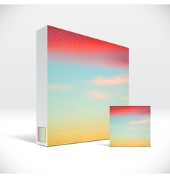 3D Identity box with abstract sky cover vector