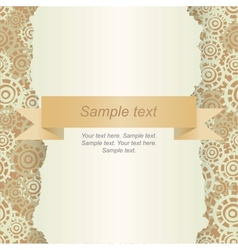 Abstract template for card vector image