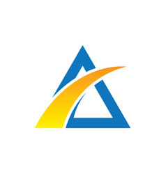 Abstract triangle arrow business logo vector