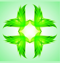abstraction green symbol for web design vector image