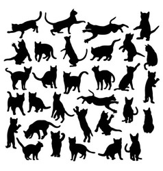Aggressive Cats Silhouette vector