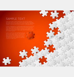 Background made from white puzzle pieces vector