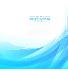 Blue abstract wave background vector