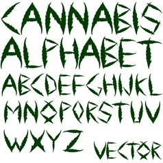 cannabis alphabet vector image