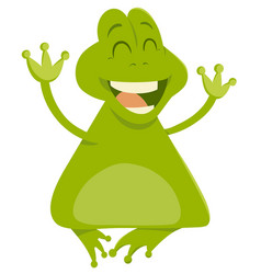 Cartoon frog animal character vector