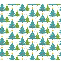 Christmas tree seamless pattern endless vector image