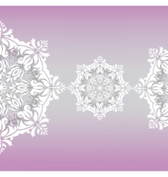 Classic floral lace ornament vector