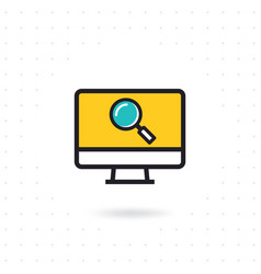 computer screen icon vector image