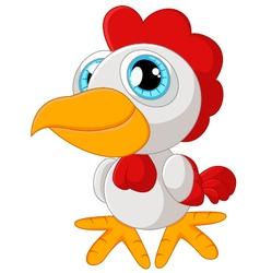 Cute rooster cartoon posing vector