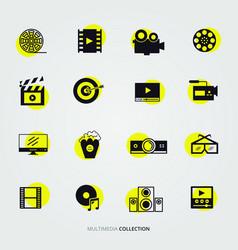 digital multimedia icon set vector image