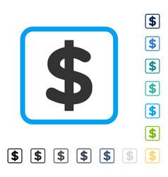 dollar framed icon vector image