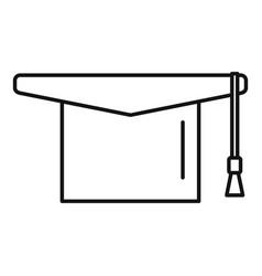 Education graduation hat icon outline vector