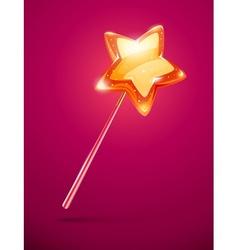 Fairytale magic wand vector