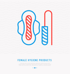 Female hygiene sanitary napkin and tampon vector