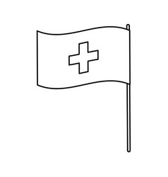 Flag of switzerland accurate dimensions element vector